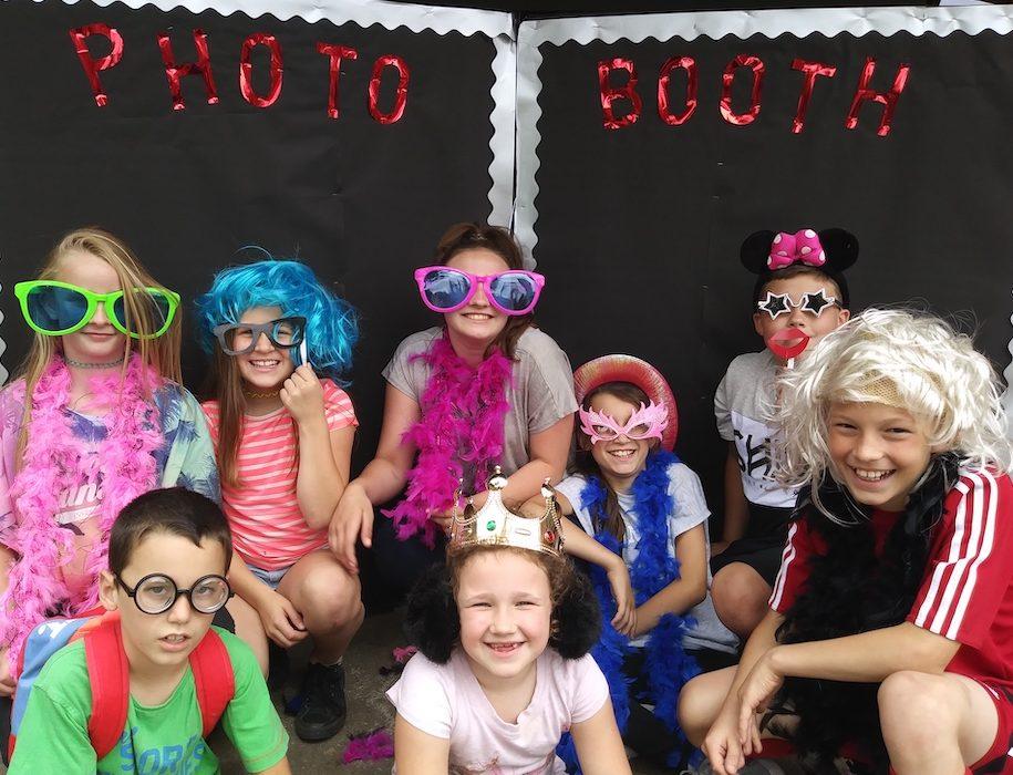 children in photo booth