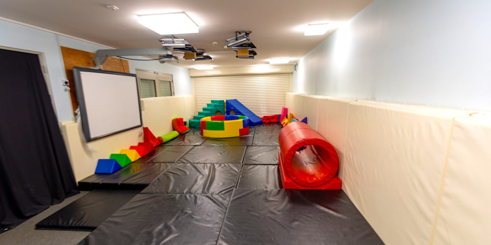 Three Corners sensory room and tunnel