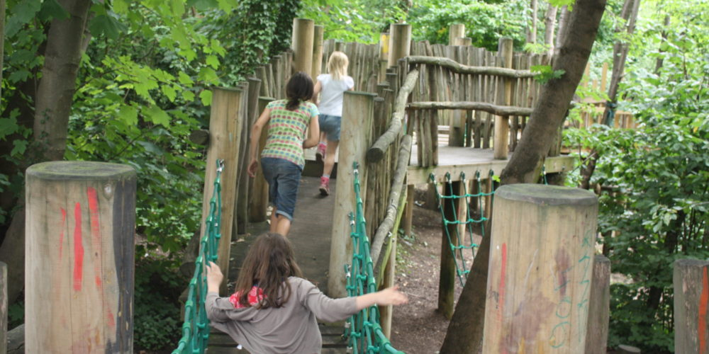 Cape Adventure Playground rope bridge