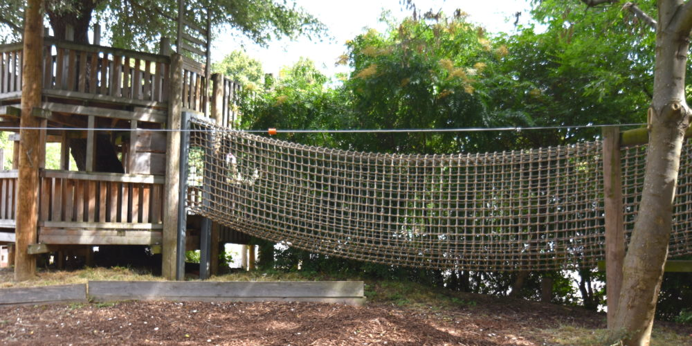 Barnard rope bridge