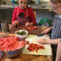 Adventurers preparing food